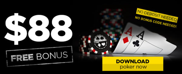 No deposit bonus $88 for registration in 888Poker