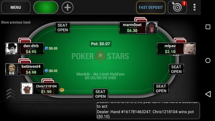 Poker star per android