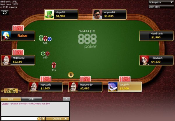 No limit holdem online